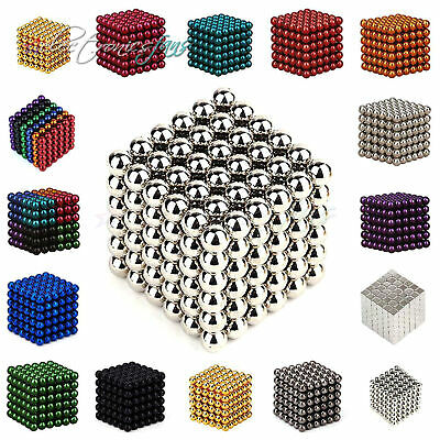 216PCS 3/5mm Colorful Neo Magnet Cube Magic Beads Balls Puzzle Magnetic Toys DIY