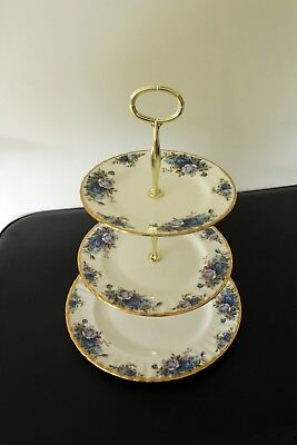 Royal Albert Moonlight Rose 3 plate afternoon tea/cake stand Parkinsons charity