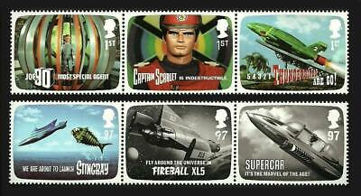 Gb 2011 Gerry Anderson Thunderbirds Space Puppets Set Mnh