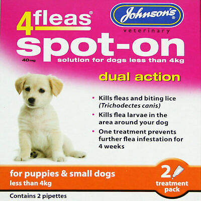 Johnson's 4fleas tablets - Cats and Dogs - Assorted Sizes - Spot-On