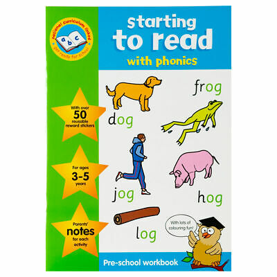 Key Stage Sticker Work Books Starting to Read - Children Educational Book