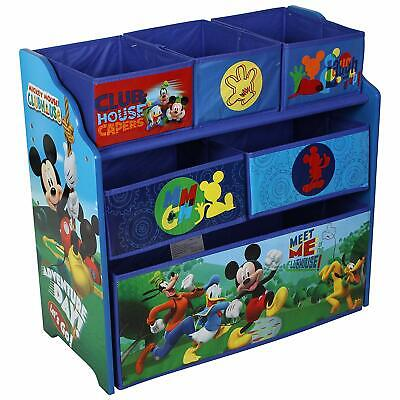 Disney Mickey Mouse Children's Toy Storage Unit Box Organiser Wooden Multi Tray
