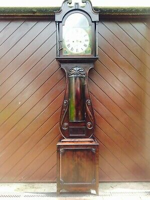 19th Century Mahogany Lyre Shaped Scottish Longcase Clock