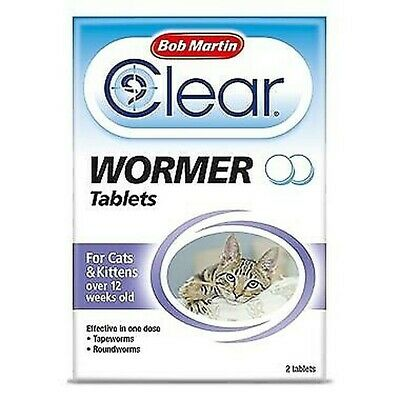 Bob Martin Clear Wormer - Assorted Treatments & Sizes - Cats & Dogs