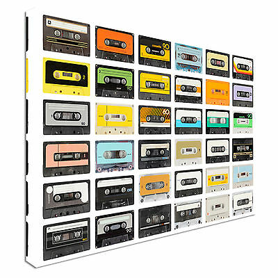 Retro Cassette Tape Music Mix Print 21x14.8cm 280gsm #14539 A5