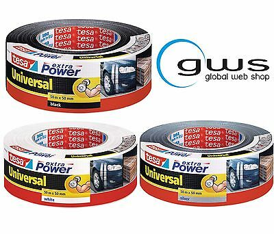 Tesa Extra Power 56389 Universal Black White Silver 50mm Woven Tape Duct Tape