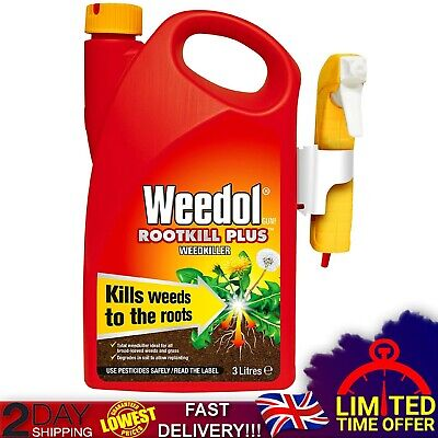 Strong Glyphosate Weed Killer Rootkiller Plus 3L Plants Pet Friendly Concentrate
