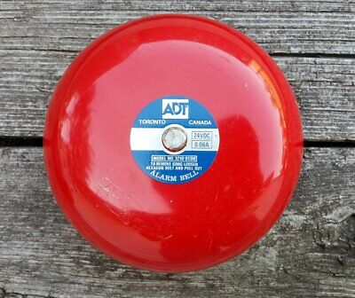 ADT Red Fire Alarm Bell Model 3210-013M 24VDC 0.06A - Rings Like There's a Fire!