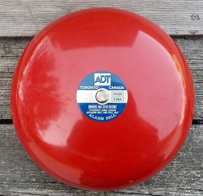 ADT Red Fire Alarm Bell Model 3210-023M 24VDC 0.06A - Rings Like There's a Fire!