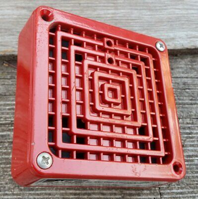 ADT Red Fire Alarm Electric Horn Model B3407-024 Series B4 18-31.2 VDC  0.063A