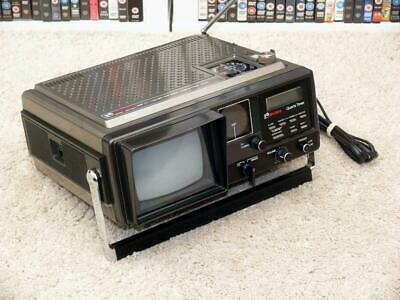 Vintage Rank / Bush BN 6520 A Mini Television / Radio / Alarm ~ Portable