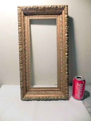 "antique gold gilt baroque picture frame, 20"" x 10 1/2"" x 2 3/8"""