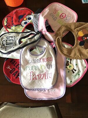 Lot Of 10 Bibs - Some Used, Great Condition