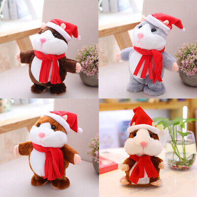 Cheeky Talking Electronic Pet Plush Hamster Repeats What You Say Toy Cute Gift