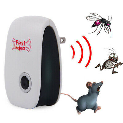 1-4x Home Ultrasonic Pest Reject Electronic Repeller Anti Mosquito Insect Killer