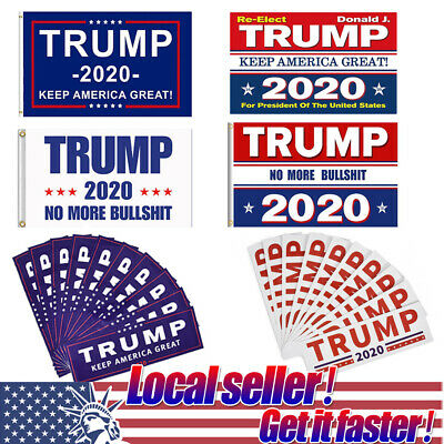US Keep Make America Great Again Donald Trump Stickers 2020 elect Flag MAGA o