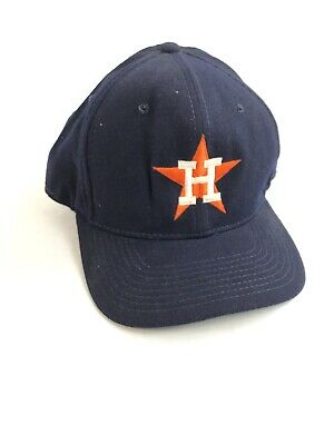 VTG 90s Sports Specialties Houston Astros Fitted Hat 100% Wool 7 3/4 Pro Model
