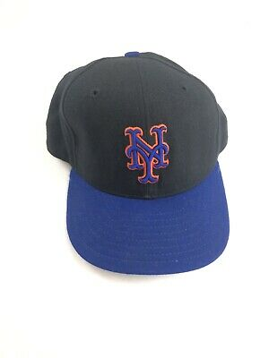 Vintage 90s New York Mets New Era Fitted Cap Diamond Collection Made USA 7 1/2