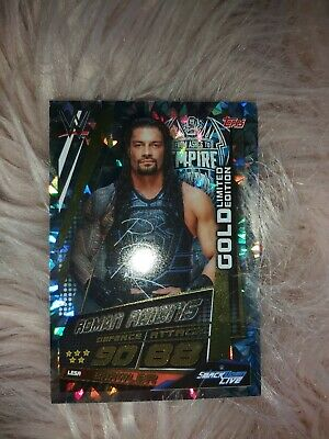 Topps Wwe Slam Attax Universe - Roman Reigns Gold Limited Edition Card