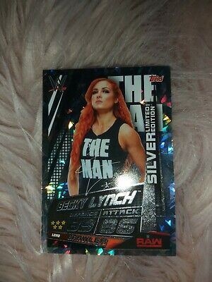 Topps Wwe Slam Attax Universe - Becky Lynch Silver Limited Edition Card