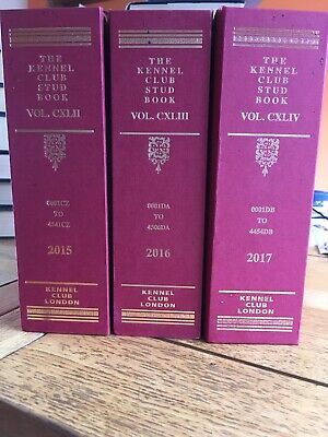The Kennel Club Stud Books 2015/7. Read description 2 books only.