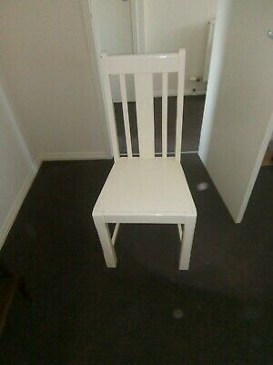 Painted Vintage/Mid 20th Century White Wooden Chair