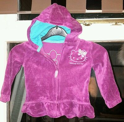 Marks and Spencer baby girls hooded top aged 12 - 24 mths
