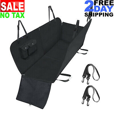 Waterproof Dog Car Back Seat Hammock Cover for Cat Pet Van SUV Rear Bench Pad