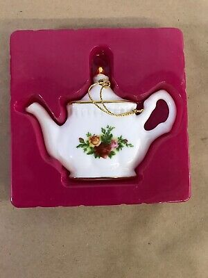 Royal Albert Old Country Roses Teapot Christmas Ornament 1962 Ltd D6
