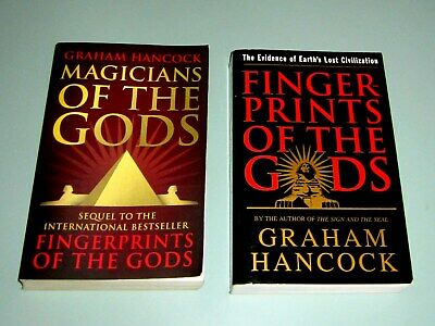 Signed by GRAHAM HANCOCK 2 BOOKS FINGERPRINTS & MAGICIANS OF GODS archaeology