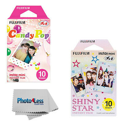 Fujifilm Instax Mini Film Candy Pop (10 sheets) + Shiny Stars (10 Sheets)