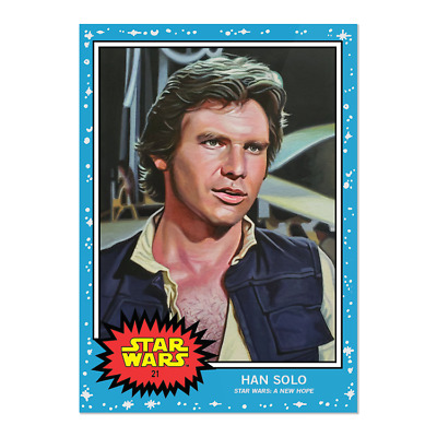 Topps Star Wars Living Set Card #21 - Han Solo  A New Hope