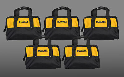 """Dewalt Tool Bag for power tools 12"""" yellow and black with nylon zipper 5 Pack"""