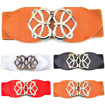 Womens Party Elastic Stretchable Belt Ladies Fashion Adjustable Waistband Dress