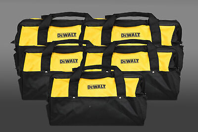 Dewalt Heavy Duty Tool Bag for power tools 18inch Bag yellow and black 5 Pack
