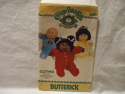 Butterick #6507 Cabbage Patch Kids Clothes Pattern One Size 16""