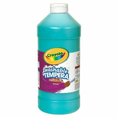 Crayola Washable Tempera Paint - 1 quart - 1 Each - Turquoise Blue