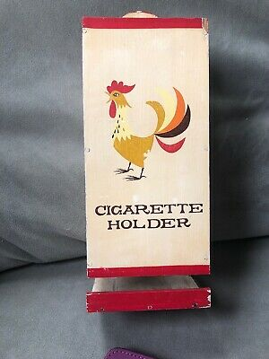 Vintage Holt Howard Rooster Wooden Cigarette Holder Wall Hanging, Rare! Japan