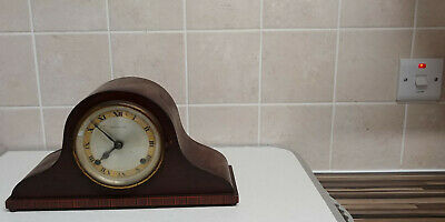 Prestons Vintage Wooden Cased Napoleon Hat Chiming Mantle Clock