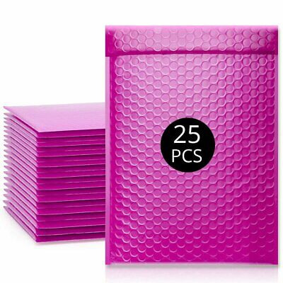 PandaSpa 6x10 Inches EXTRA Thick Poly Bubble Mailers Self Seal Hot Pink Padded E