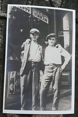 Vintage Photo Reprint Affectionate Men @ Ice Cream Parlor 1920's Gay Interest