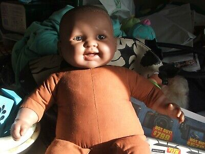 Berenguer Black Baby  Doll  African American WITH CLOTH BODY