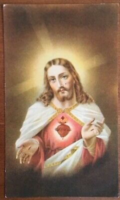 Catholic Prayer Card, Prayers To The Sacred Heart, Most Holy Trinity, Pikesville