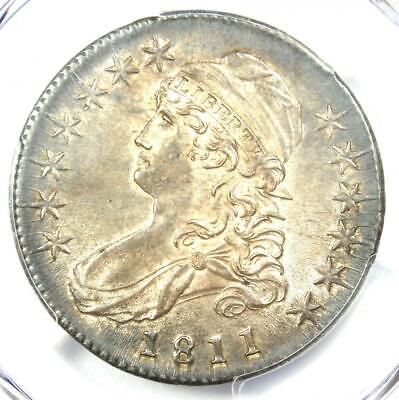 1811 Capped Bust Half Dollar 50C Coin - PCGS Uncirculated Details (MS UNC)!