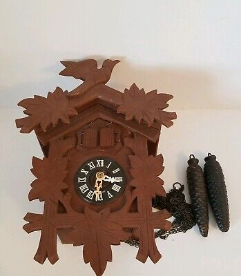 German Made Black Forest Cuckoo Clock  for Parts or Repair ONLY Selling As Is