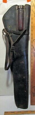 WWII US Leather Rifle Jeep Scabbard for M1 Garand Rifle - MILWAUKEE SADDLER 1942
