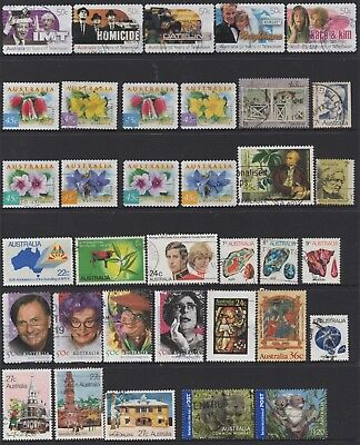AUSTRALIA No.14 DECIMAL COLLECTION OF (35) STAMPS VFU