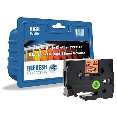 REFRESH CARTRIDGES TZe-B41 COMPATIBLE WITH BROTHER LABEL PRINTERS