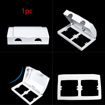 Electric Double Socket Box Plug Cover Protector Wall Mount Child Safety Baby