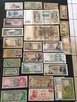 Lot Of 27 World Banknotes